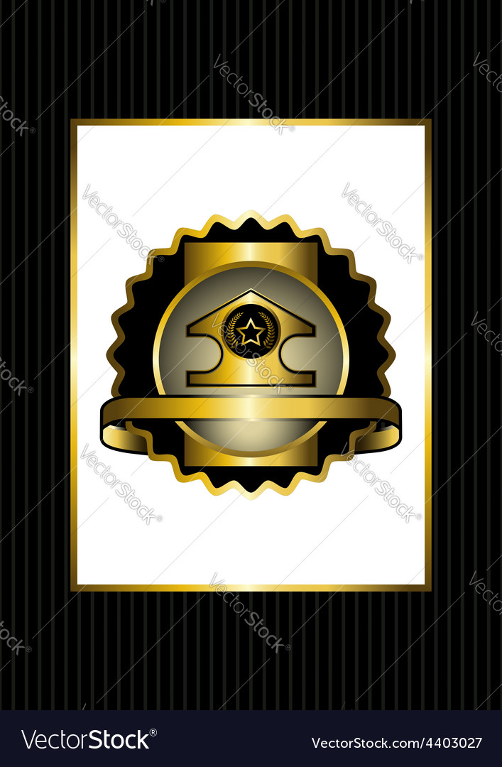 The original badge with gold details vector | Price: 1 Credit (USD $1)