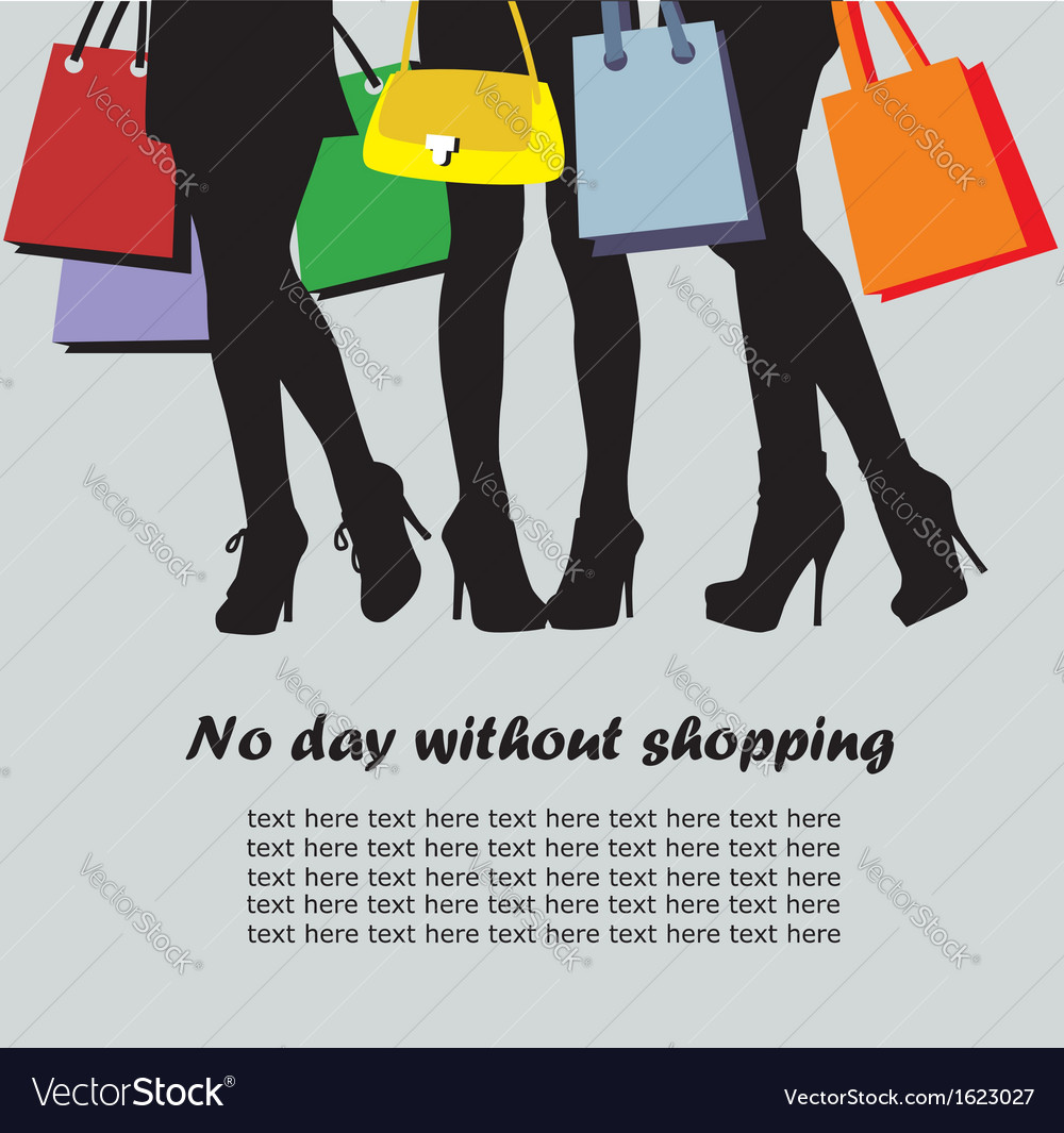 Shopping time vector | Price: 1 Credit (USD $1)