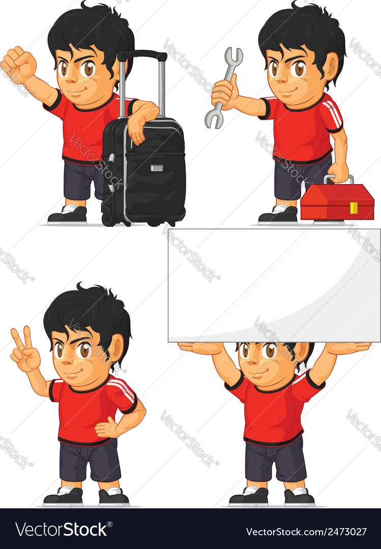 Soccer boy customizable mascot 14 vector | Price: 1 Credit (USD $1)