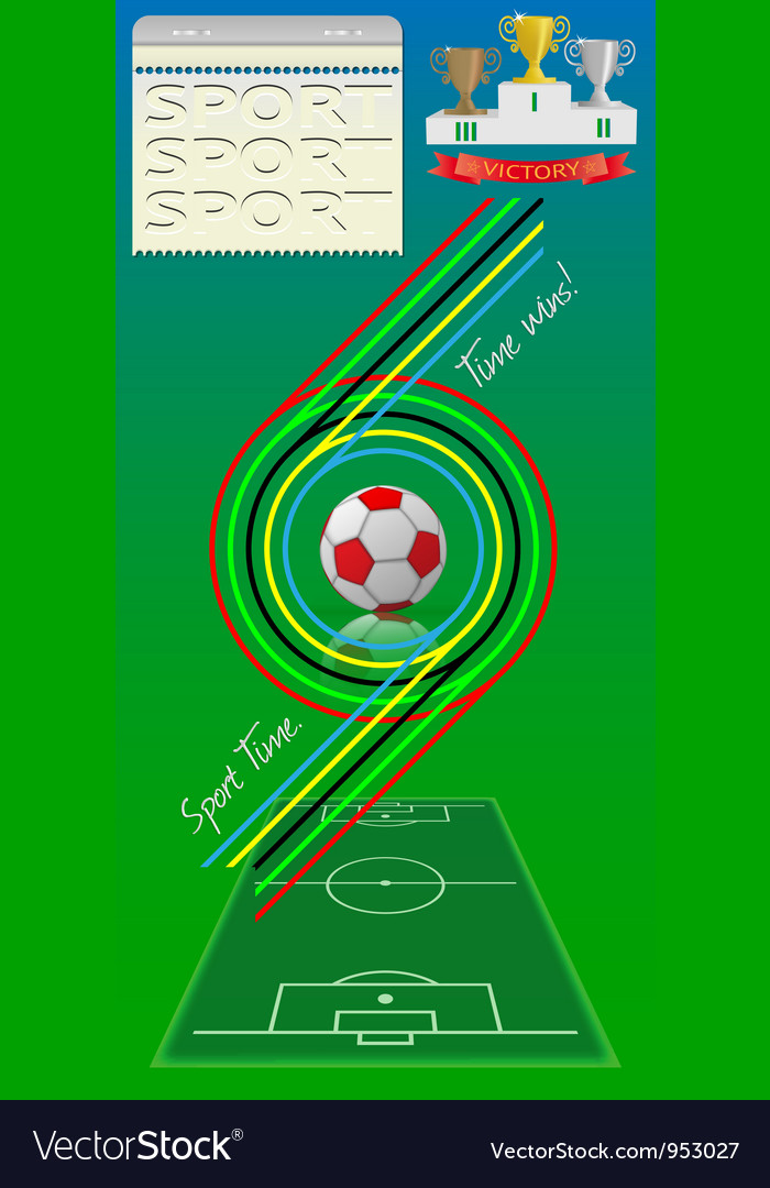 Sport time vector | Price: 1 Credit (USD $1)