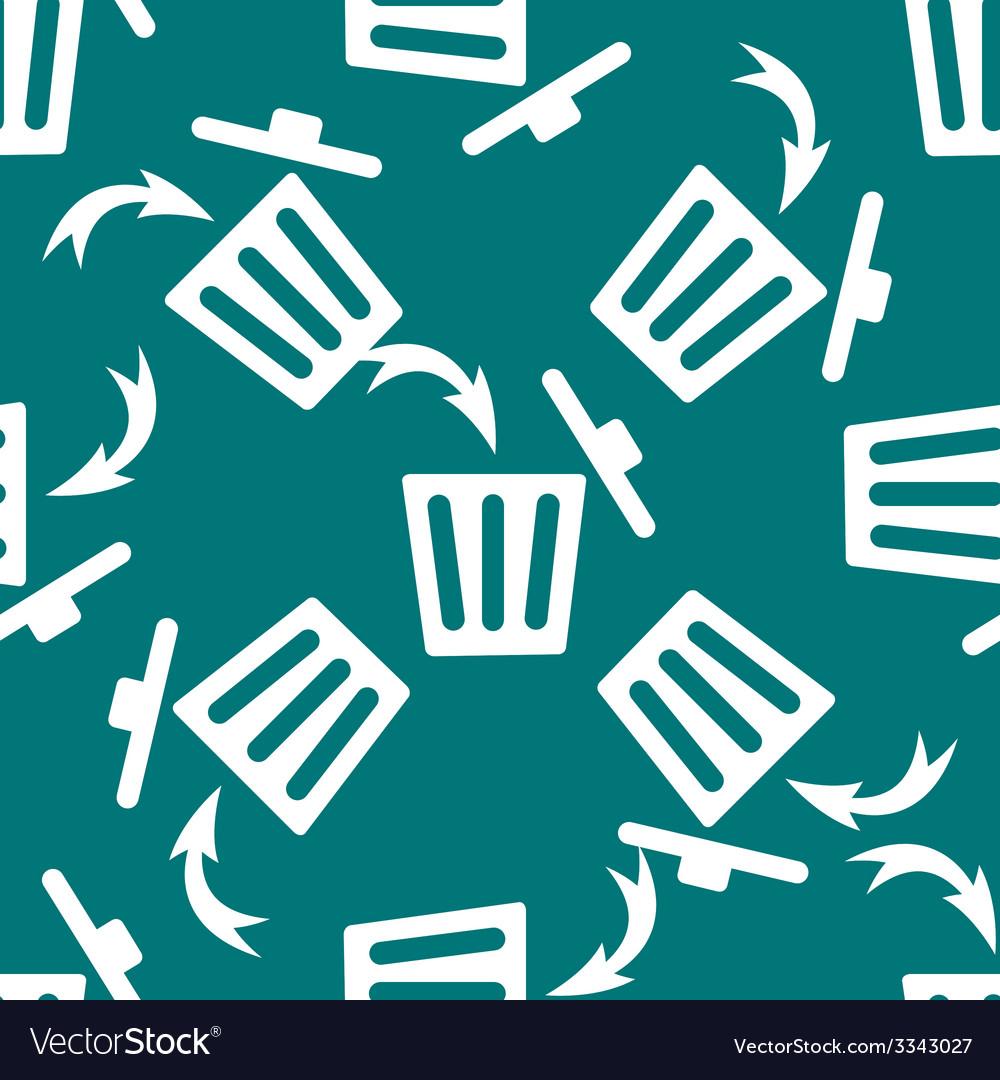 Trash bin web icon flat design seamless gray vector | Price: 1 Credit (USD $1)