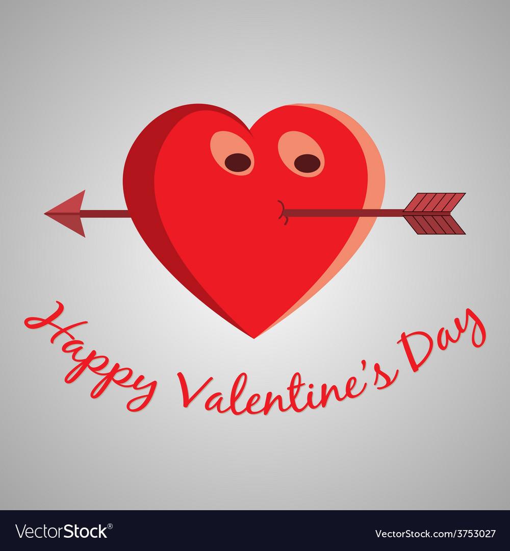 Valentine cartoon heart vector | Price: 1 Credit (USD $1)