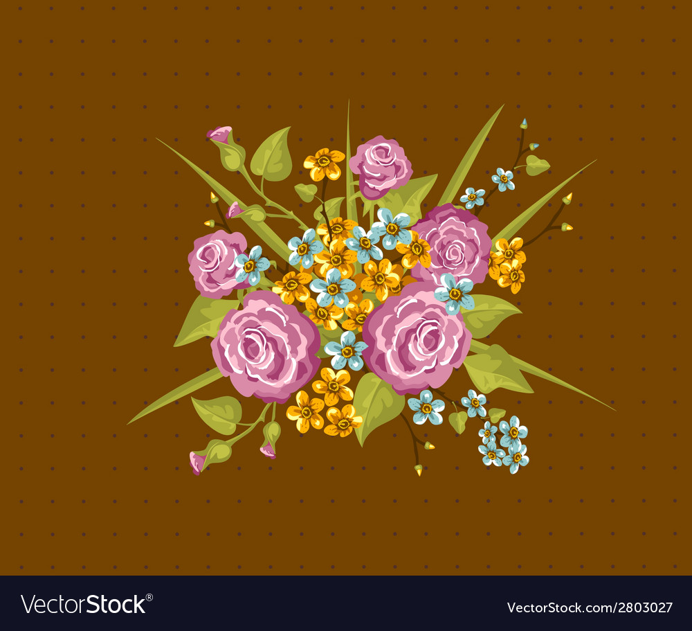 Vintage flowers vector | Price: 1 Credit (USD $1)