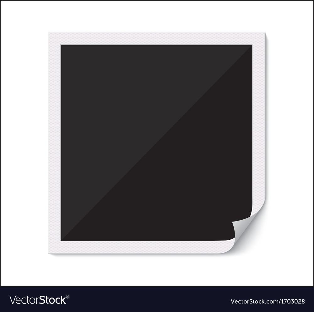 Blank photo frame with curved corner vector | Price: 1 Credit (USD $1)