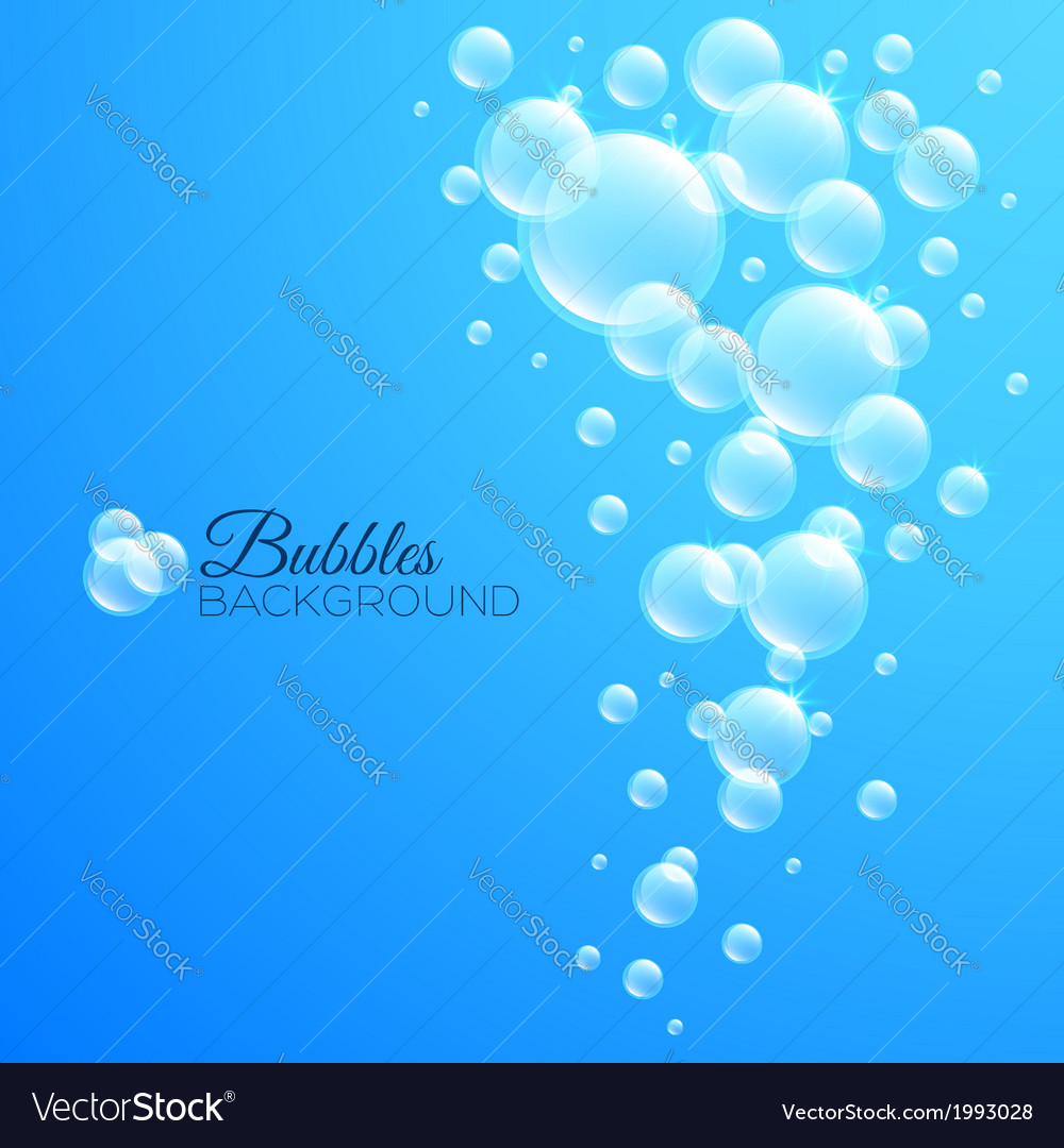 Bubbles underwater background vector | Price: 1 Credit (USD $1)