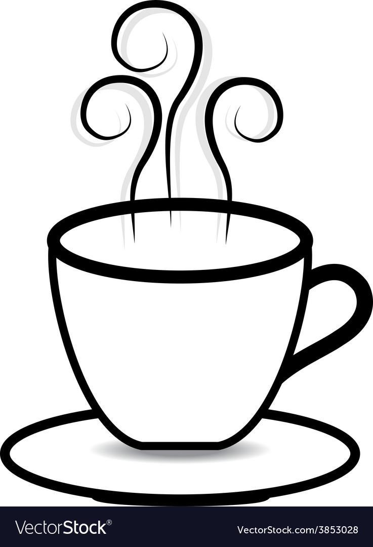 Coffee cup on white background vector | Price: 1 Credit (USD $1)