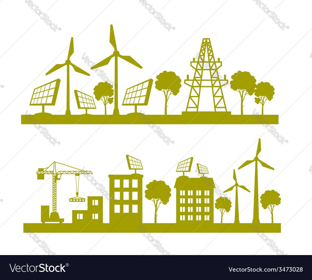 Eco concept planet vector | Price: 1 Credit (USD $1)
