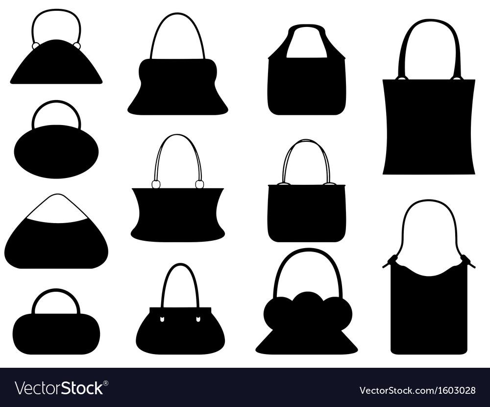 Female purse set vector | Price: 1 Credit (USD $1)