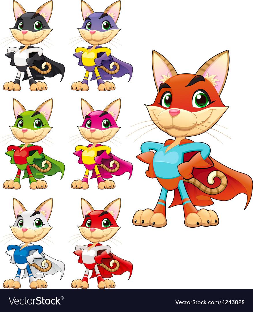 Funny cat super hero vector   Price: 1 Credit (USD $1)