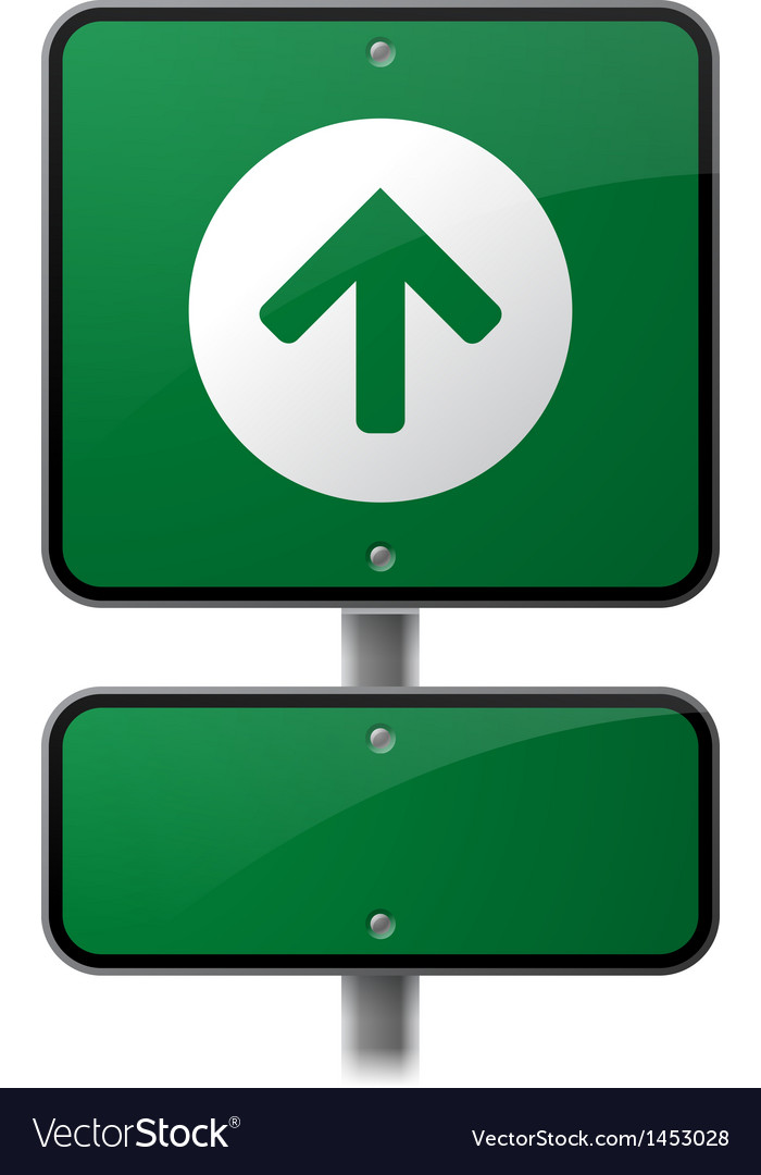 Growth arrow sign vector | Price: 1 Credit (USD $1)