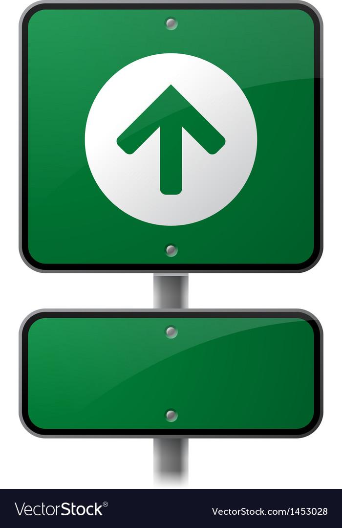 Growth arrow sign vector | Price: 1 Credit (USD $1)
