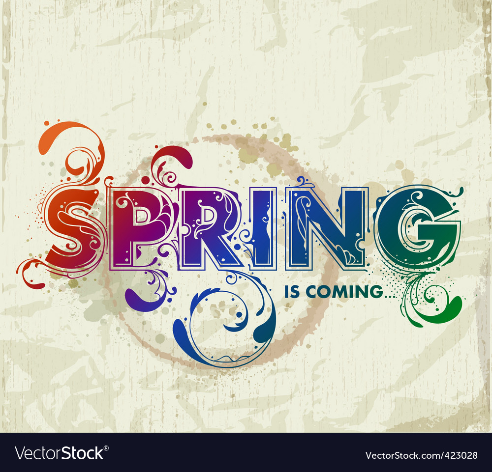 Hand drawn spring lettering vector | Price: 1 Credit (USD $1)