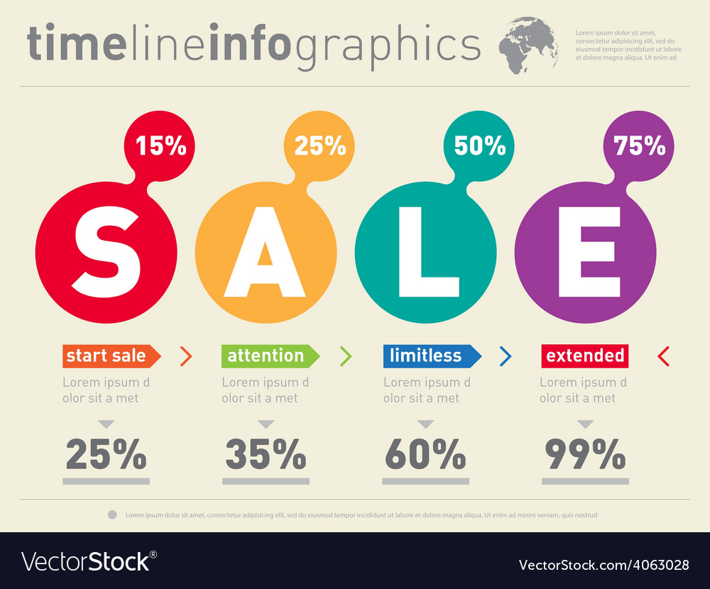 Sale infographic timeline time line of social vector   Price: 1 Credit (USD $1)