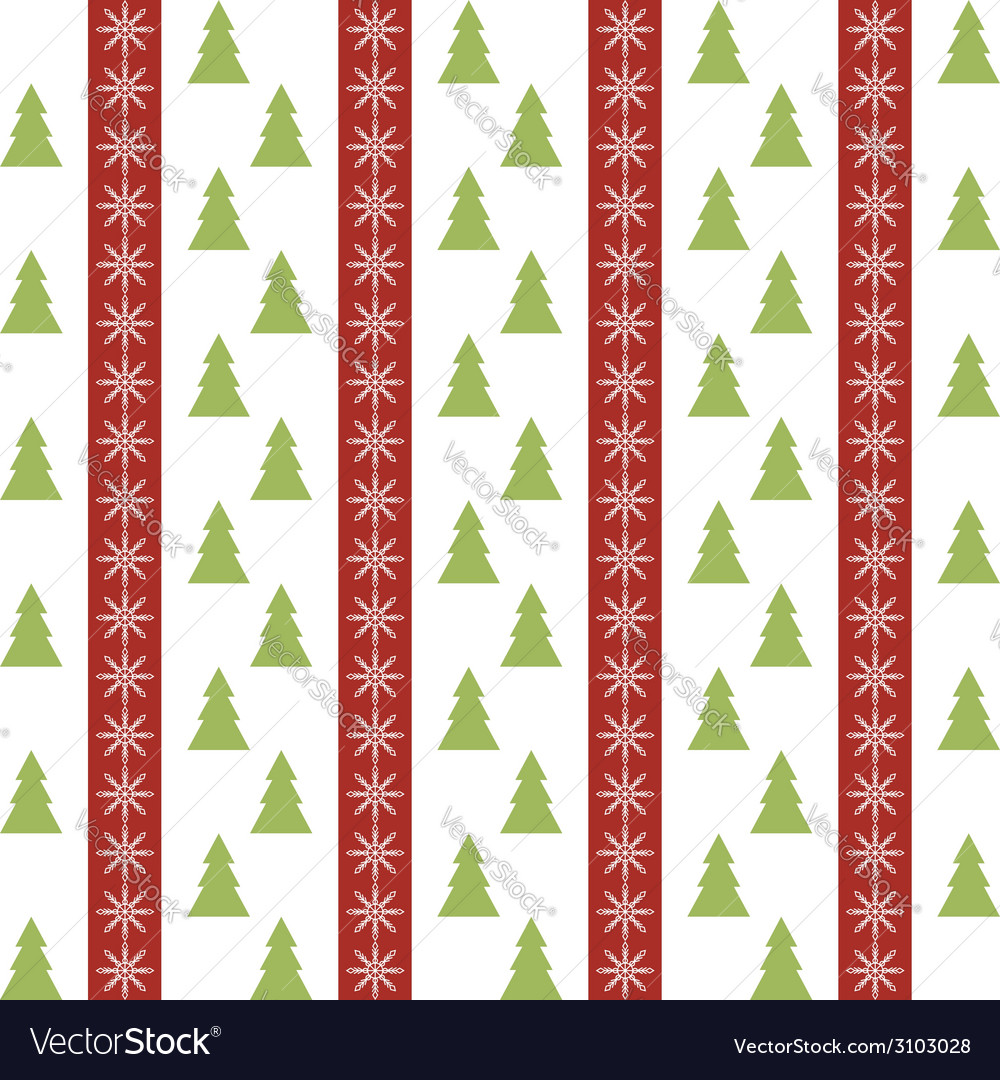 Seamless pattern with christmas trees and vector | Price: 1 Credit (USD $1)