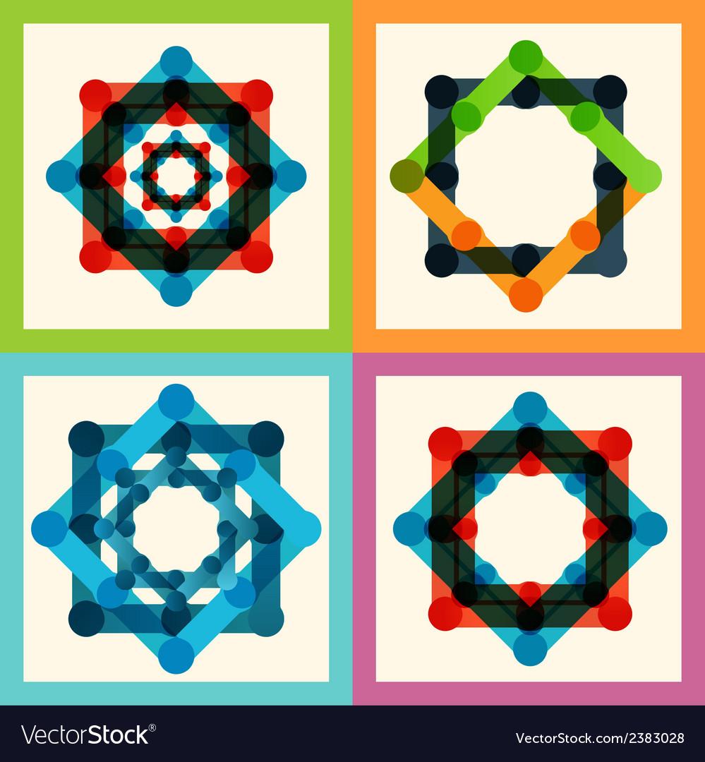 Set color molecule pattern eps vector | Price: 1 Credit (USD $1)