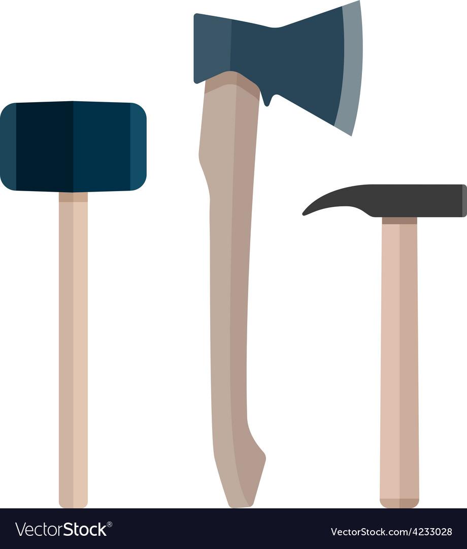 Set of instrument ax hammer vector | Price: 1 Credit (USD $1)