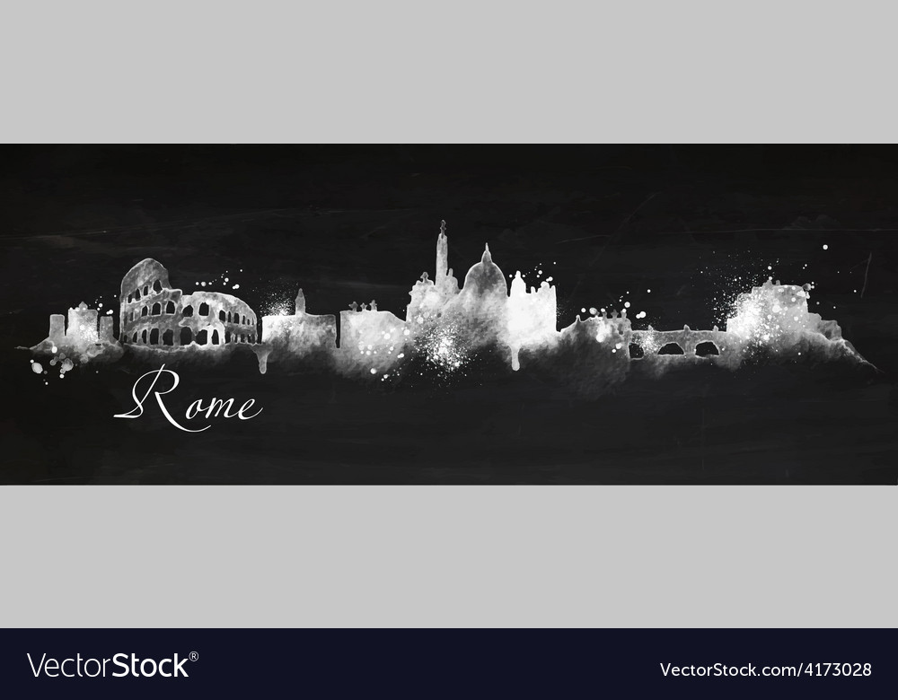 Silhouette chalk rome vector | Price: 3 Credit (USD $3)