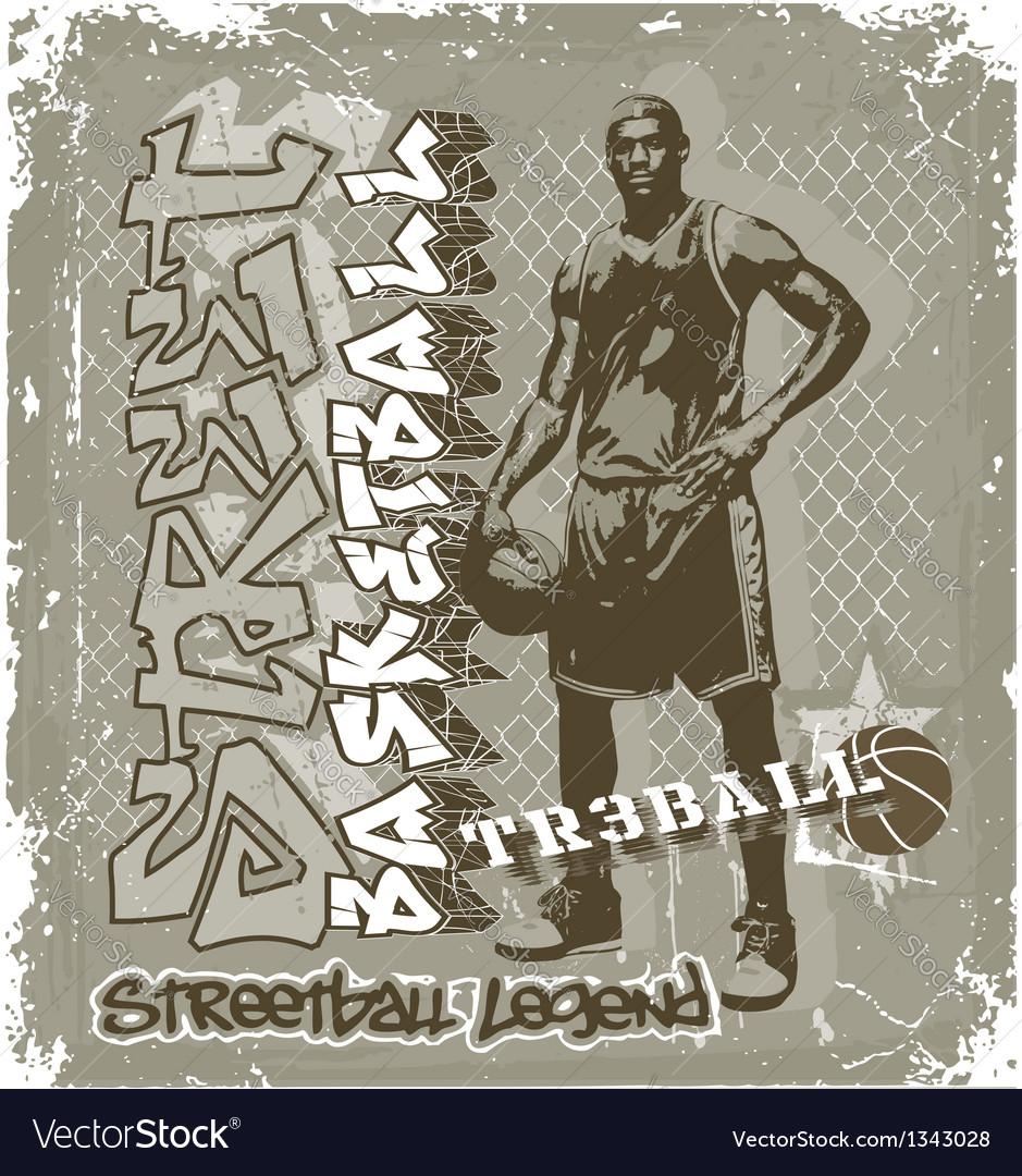 Streetball basketball vector   Price: 1 Credit (USD $1)
