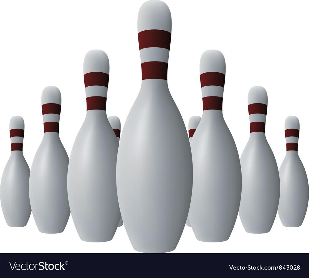 Ten bowling pins vector | Price: 1 Credit (USD $1)