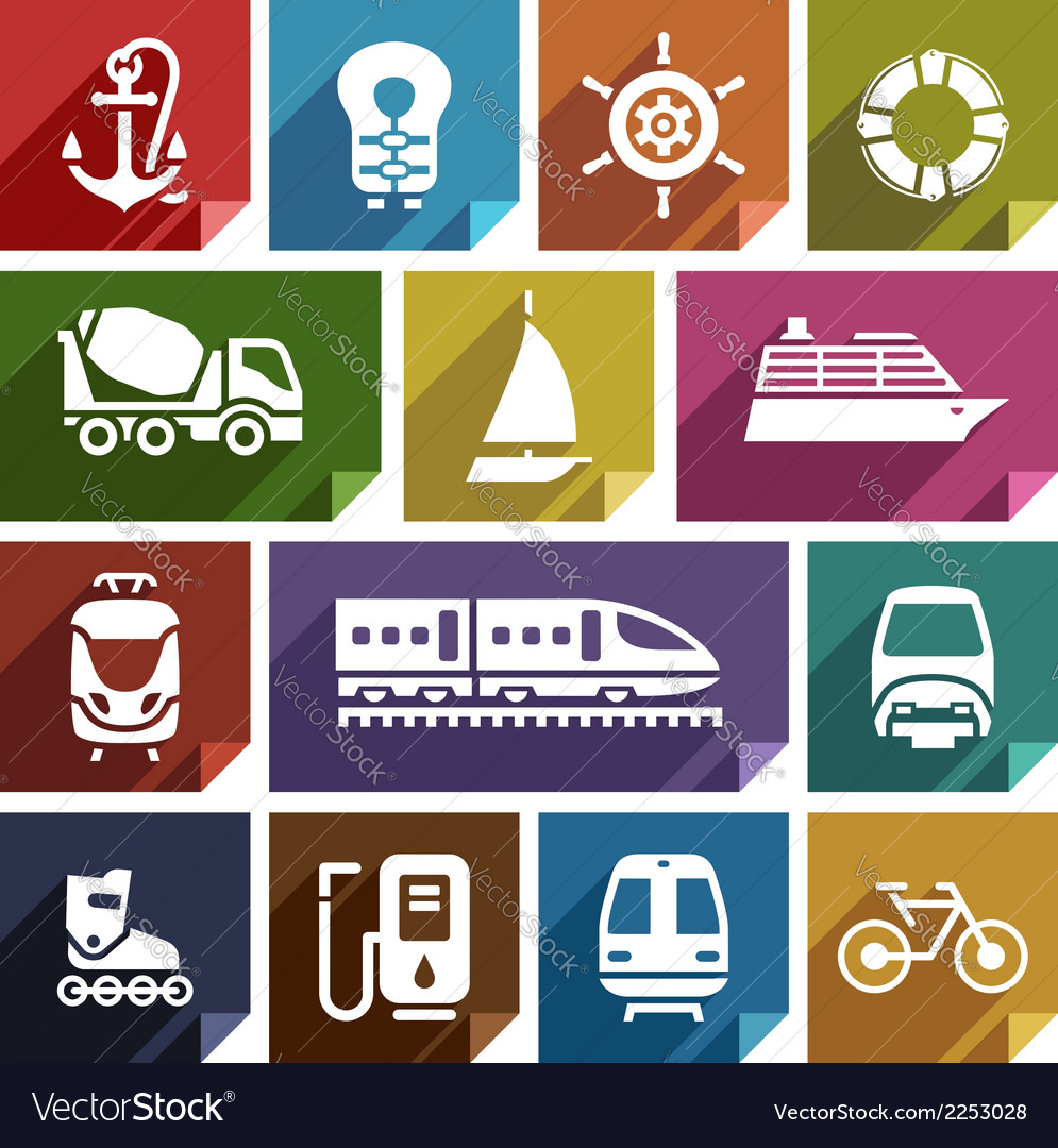 Transport flat icon-01 vector | Price: 1 Credit (USD $1)