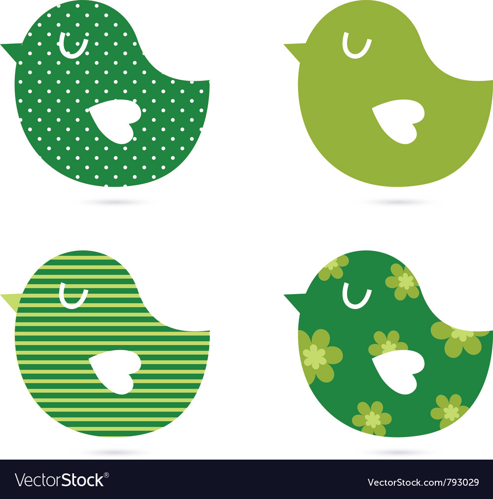 Abstract birds collection vector | Price: 1 Credit (USD $1)