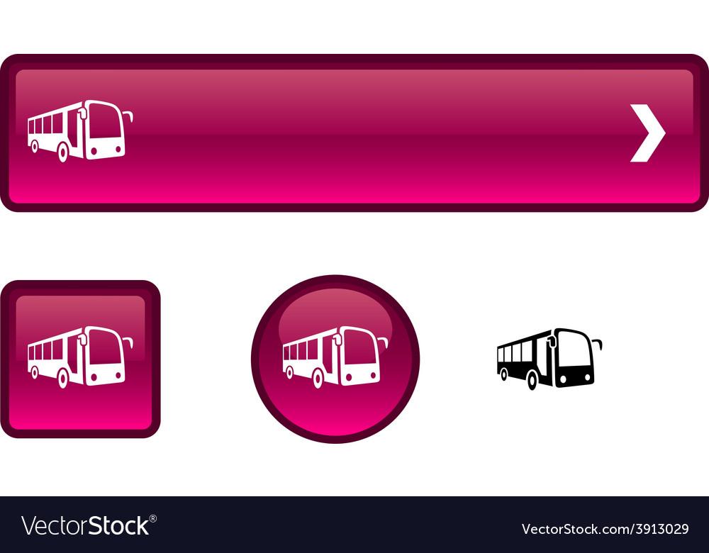 Bus button set vector | Price: 1 Credit (USD $1)
