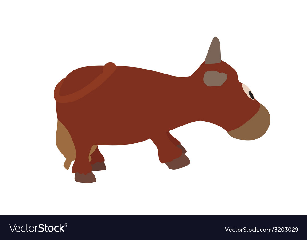 Cow isolated on white background  eps10 vector