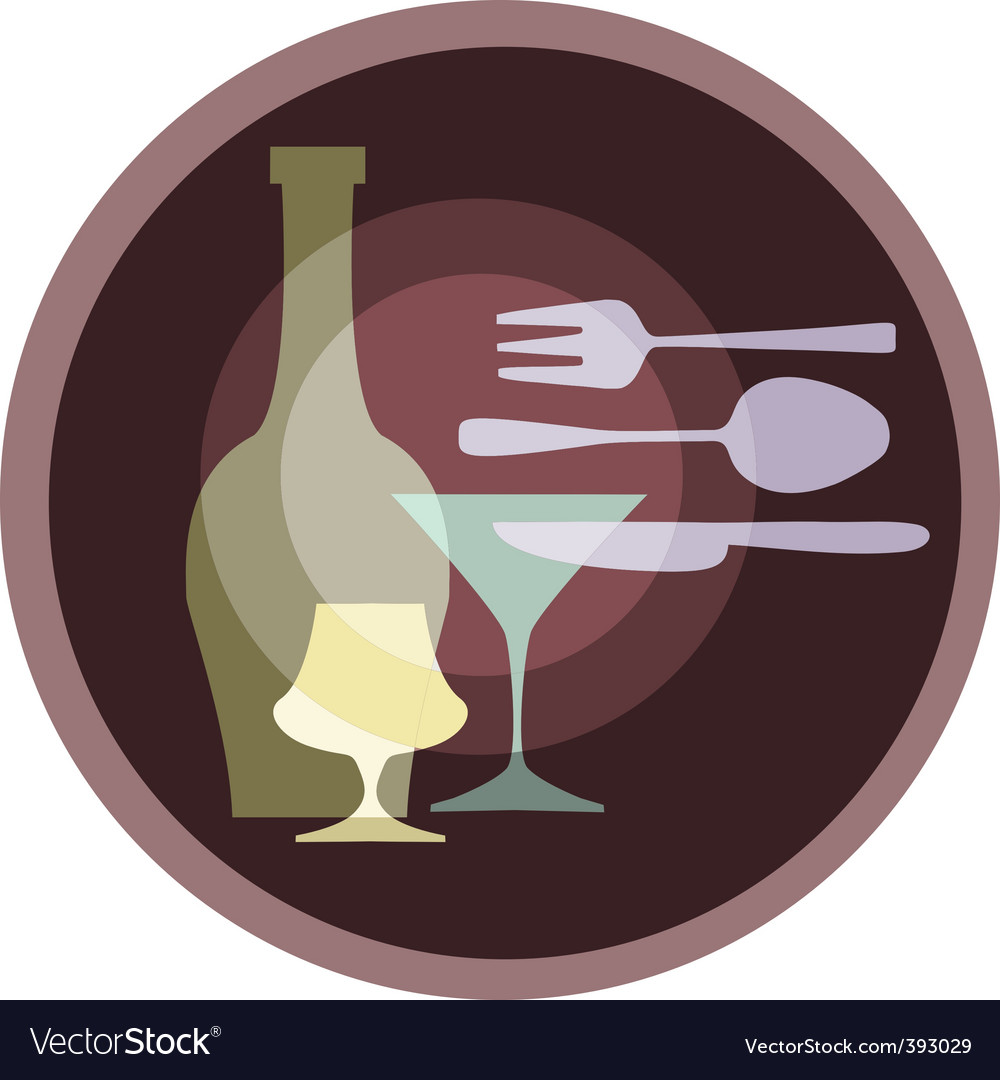 Eating and dining vector | Price: 1 Credit (USD $1)