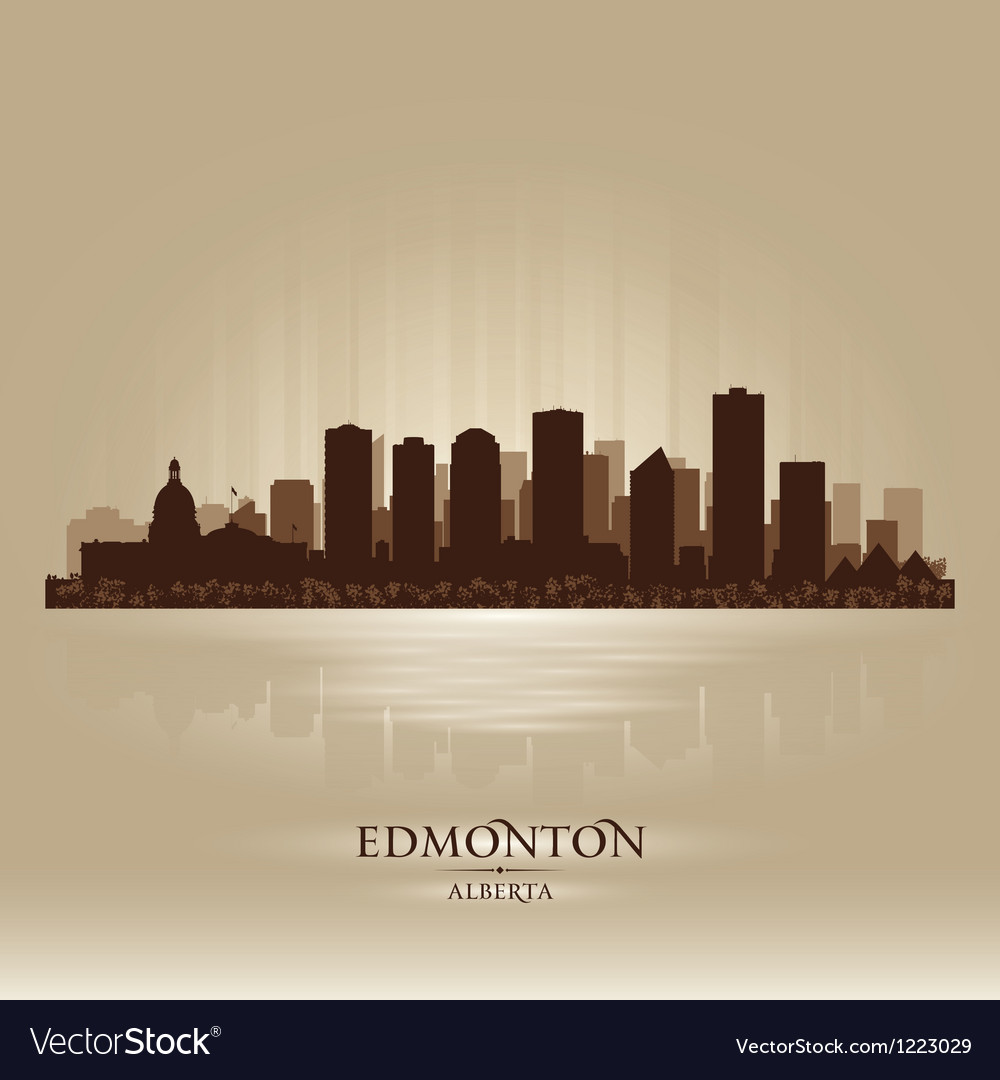 Edmonton alberta skyline city silhouette vector | Price: 1 Credit (USD $1)