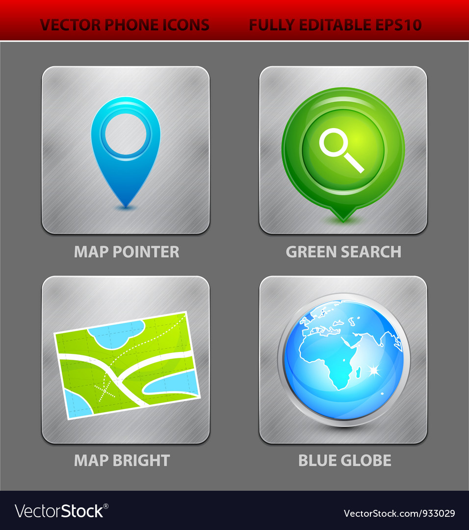 Map app icons vector | Price: 3 Credit (USD $3)