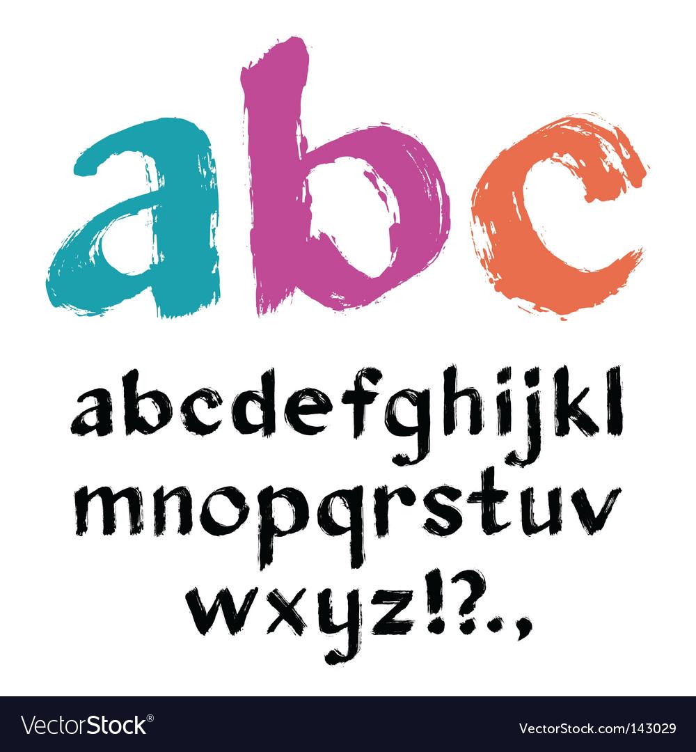 Paintbrush alphabet vector | Price: 1 Credit (USD $1)