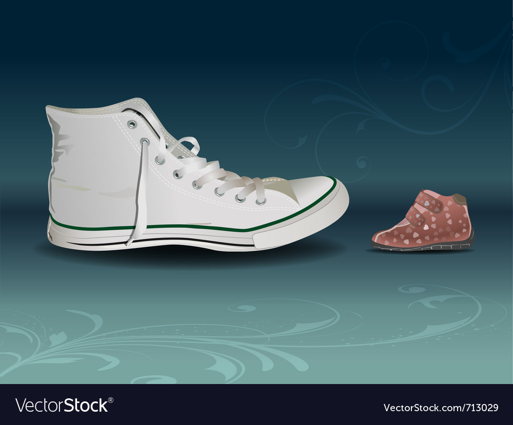 Sneaker vs shoe vector | Price: 3 Credit (USD $3)