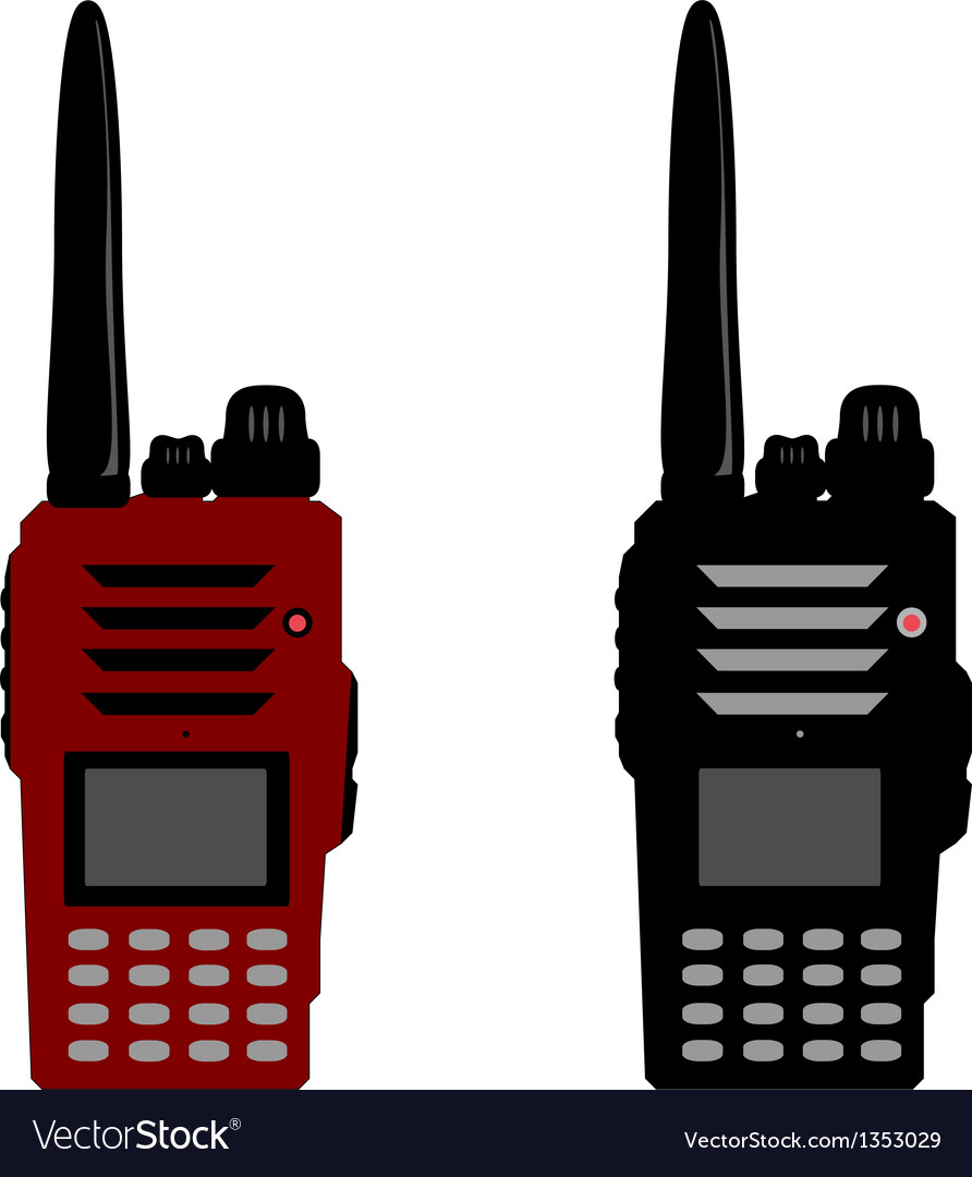 Walkie talkie or police radio and radio communicat vector | Price: 1 Credit (USD $1)