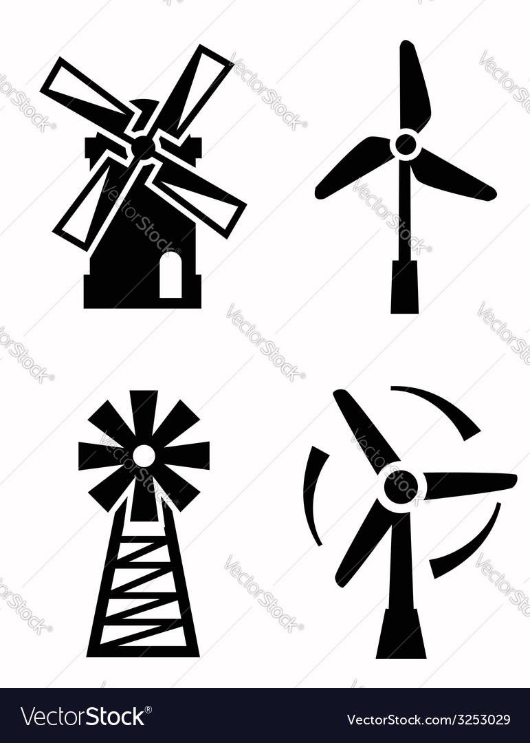 Windmill icons vector | Price: 1 Credit (USD $1)