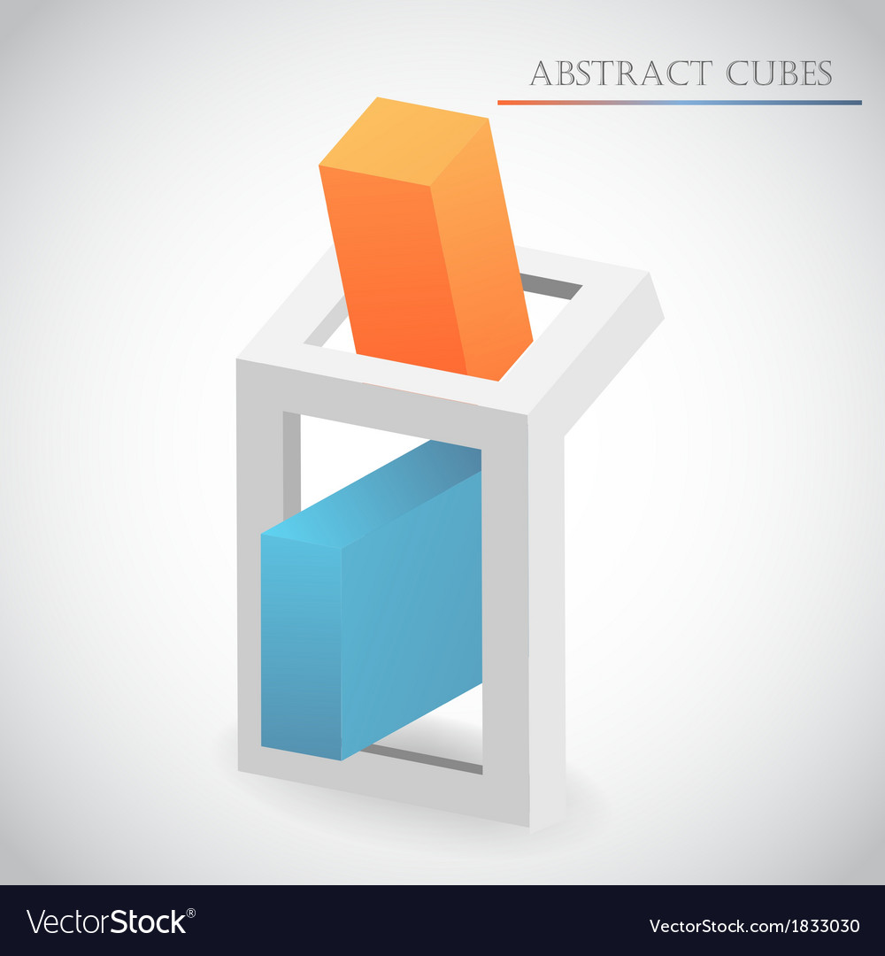 Abstract cube vector | Price: 1 Credit (USD $1)