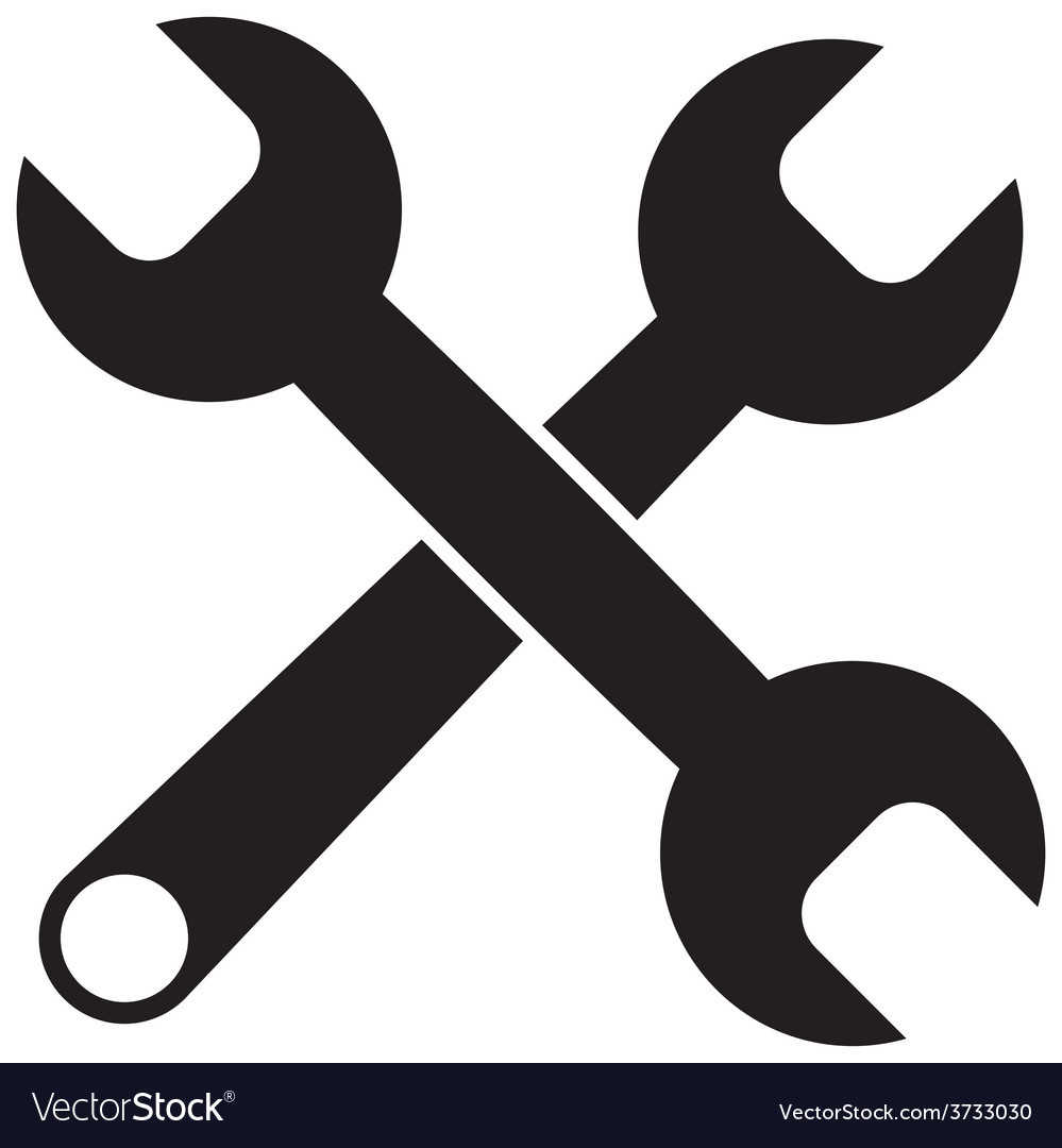 Black icon of wrench vector | Price: 1 Credit (USD $1)