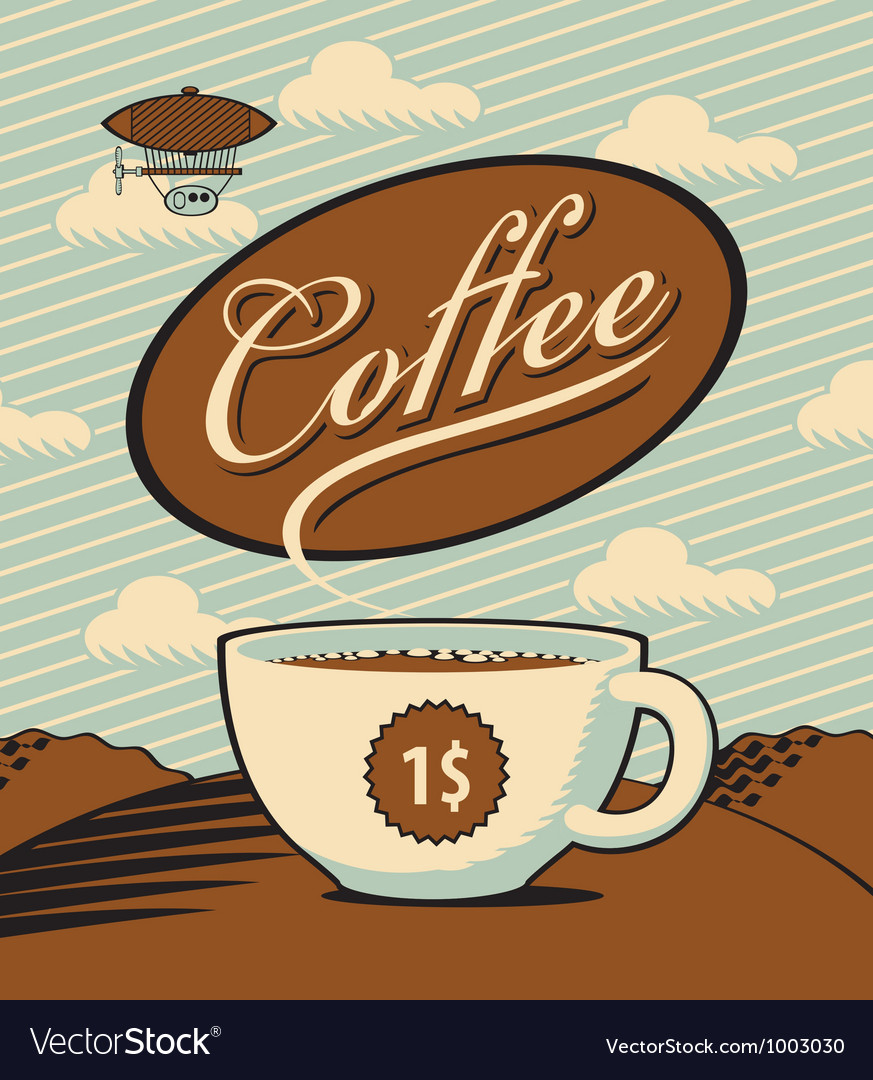 Coffee landscape vector   Price: 3 Credit (USD $3)