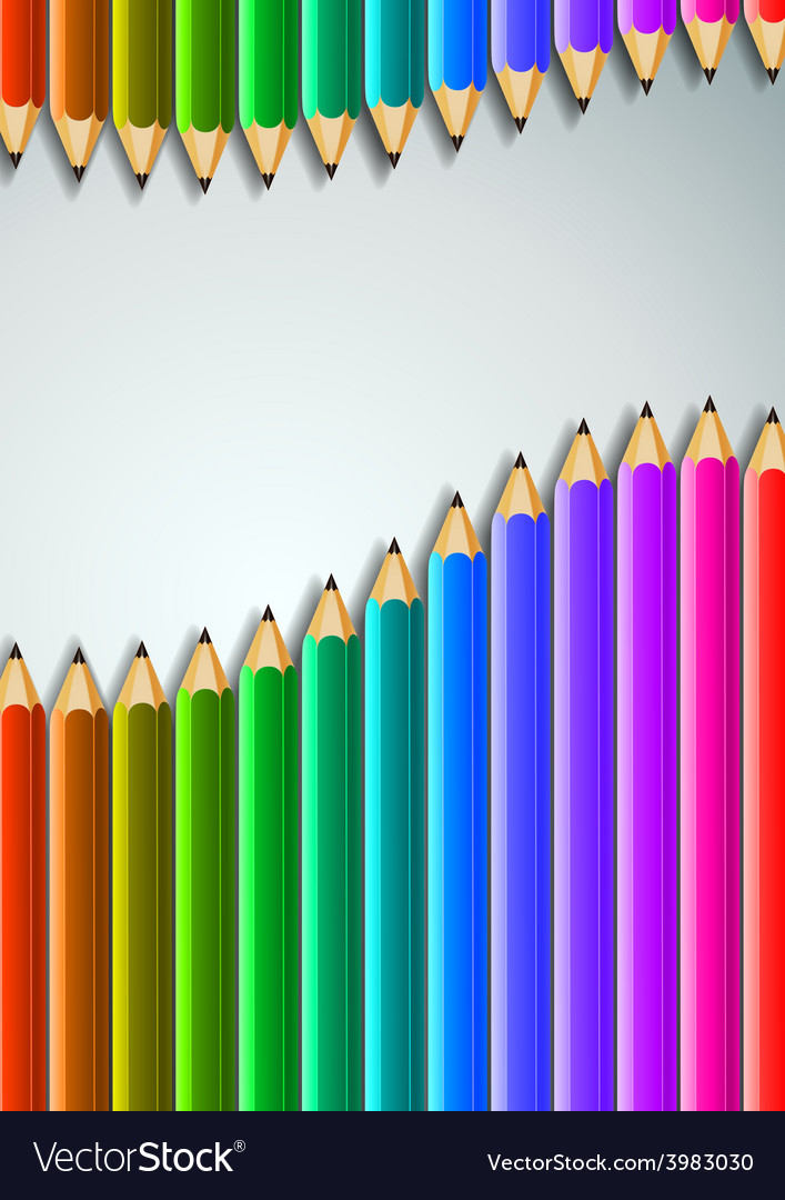 Colorful pencils background vector | Price: 1 Credit (USD $1)