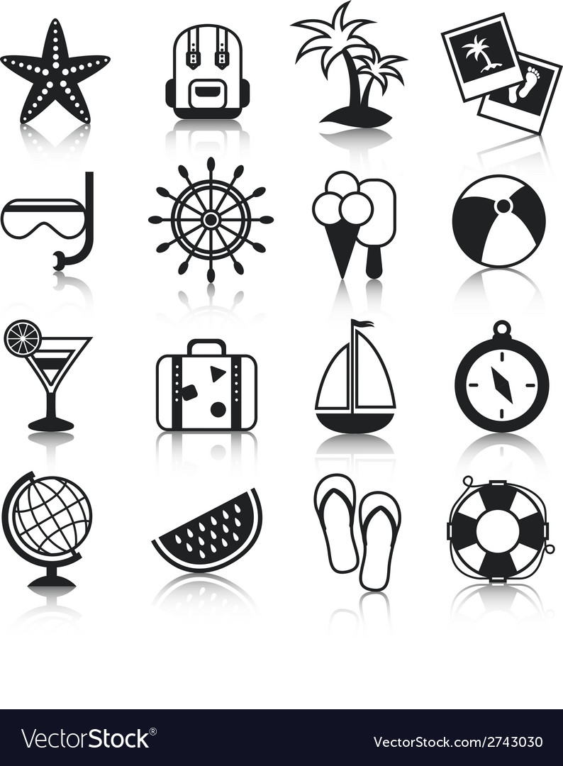 Holyday icons set vector | Price: 1 Credit (USD $1)