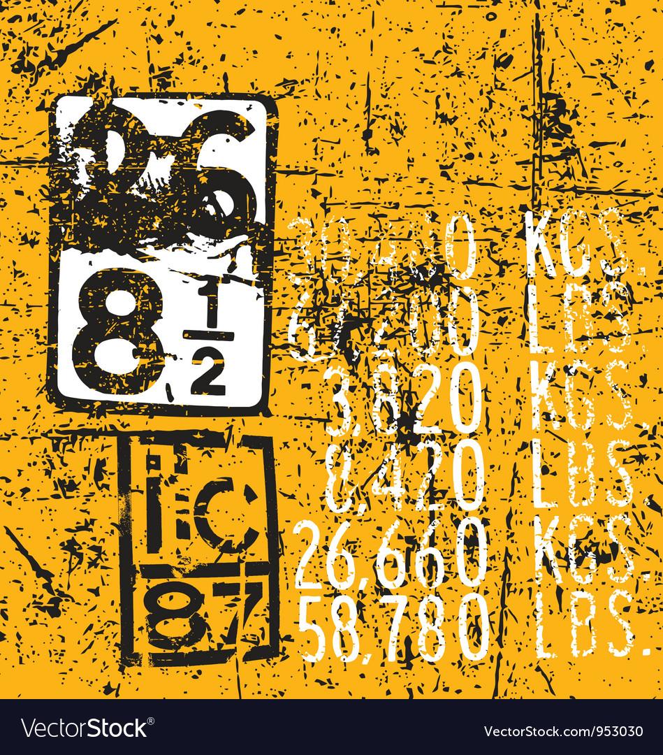 Industrial markings vector | Price: 1 Credit (USD $1)
