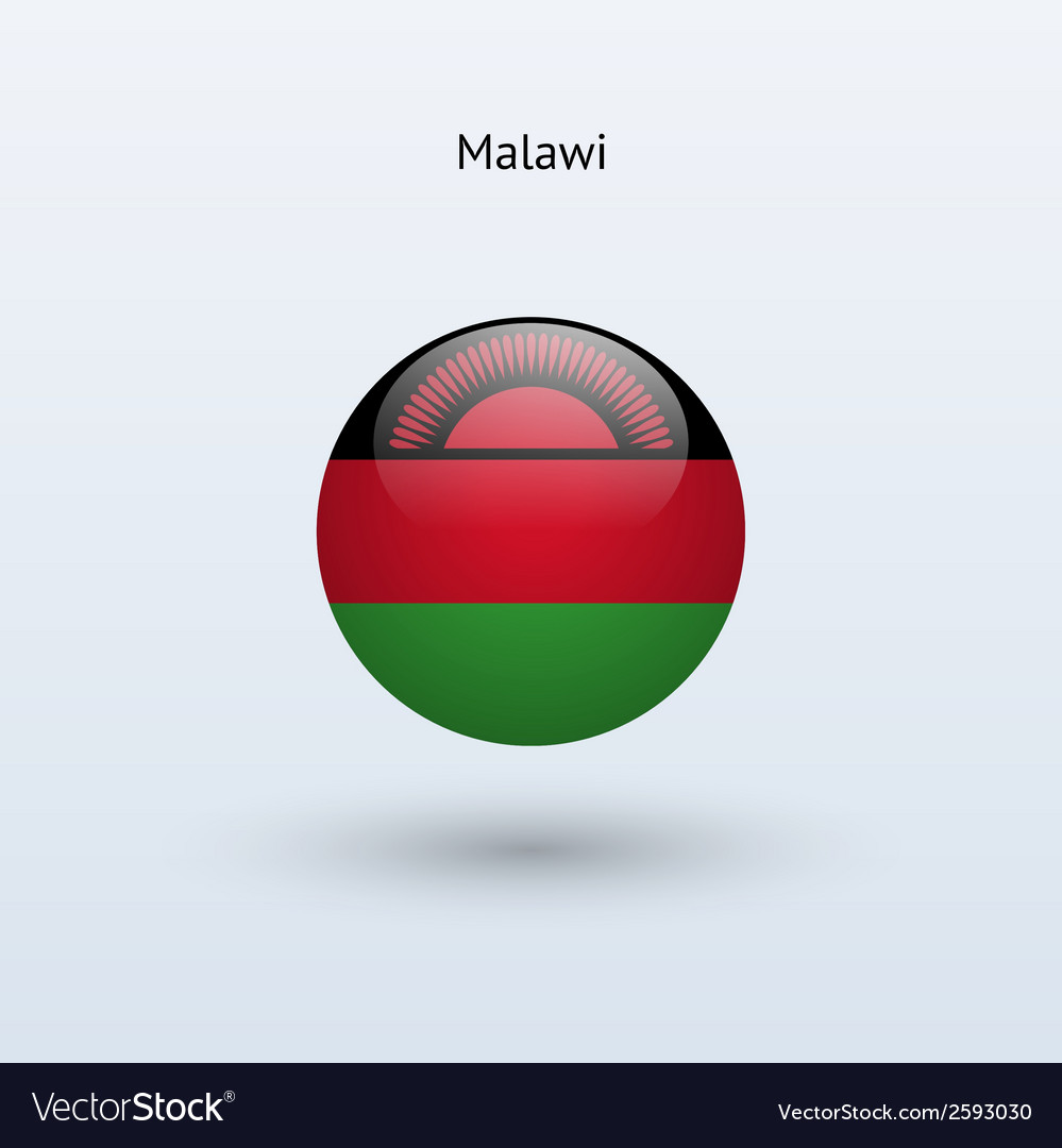 Malawi round flag vector | Price: 1 Credit (USD $1)
