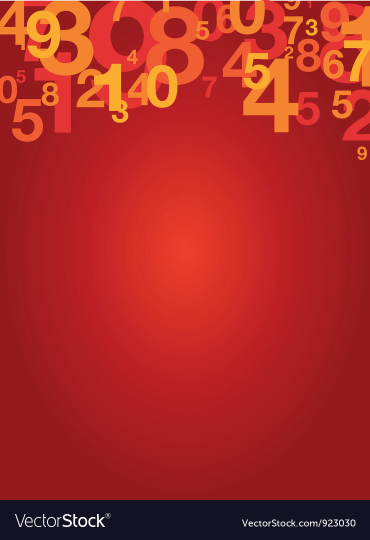 Number background vector | Price: 1 Credit (USD $1)