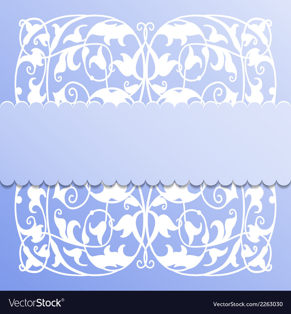 Paper frame on blue background vector | Price: 1 Credit (USD $1)