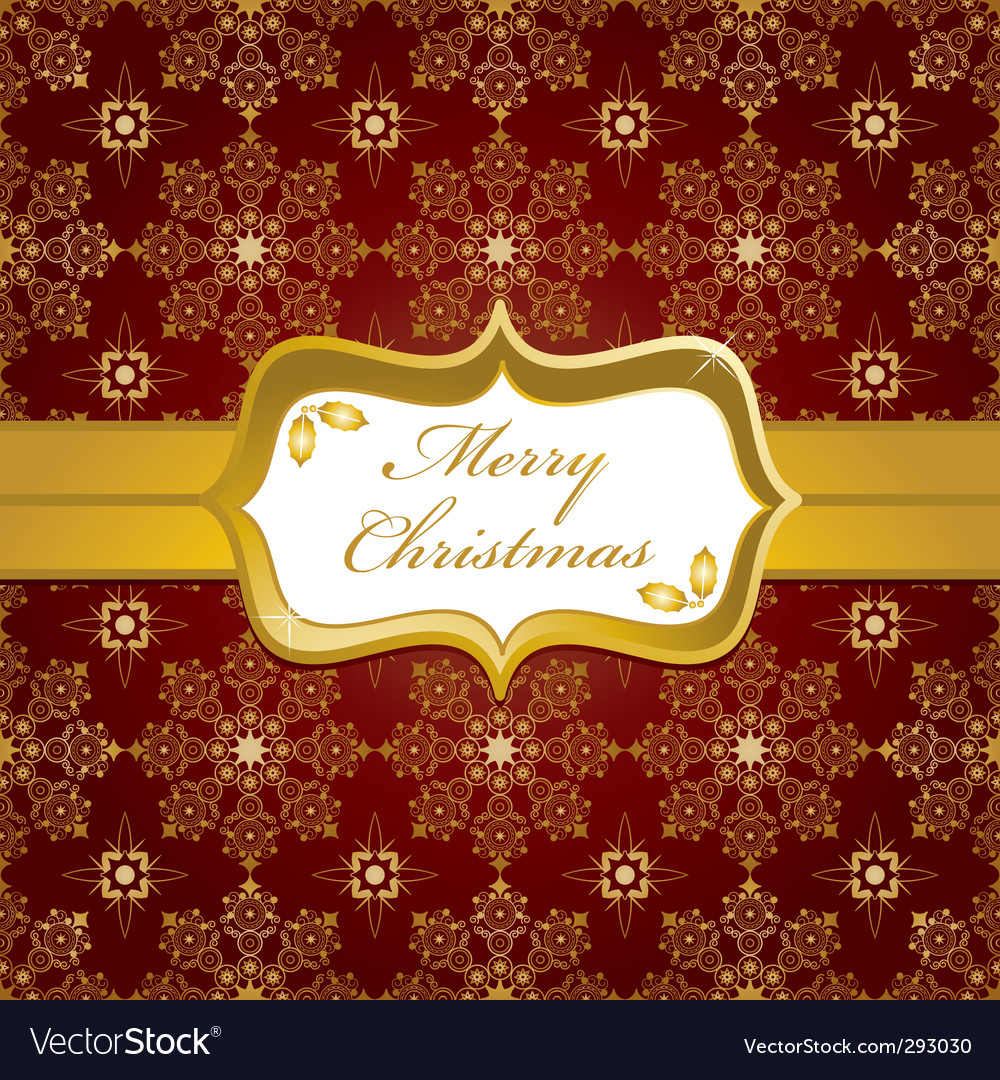 Red and gold christmas wrapping vector | Price: 1 Credit (USD $1)