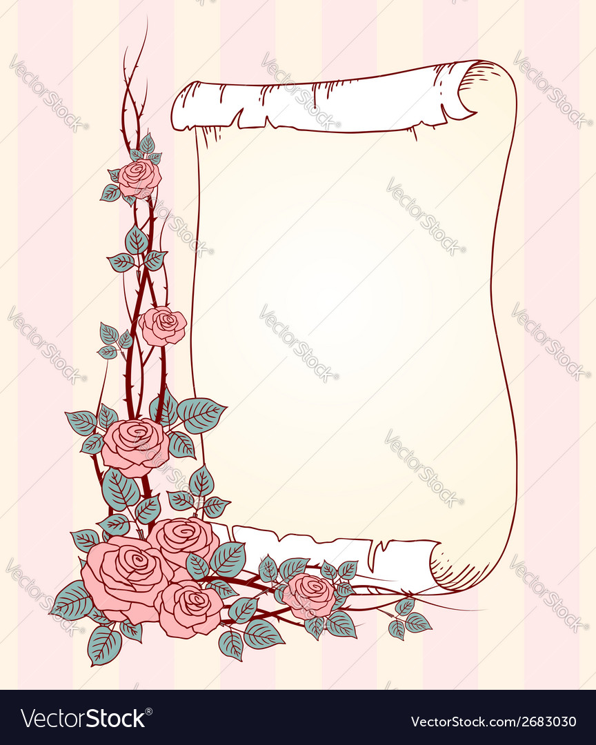 Roses paper vector | Price: 1 Credit (USD $1)