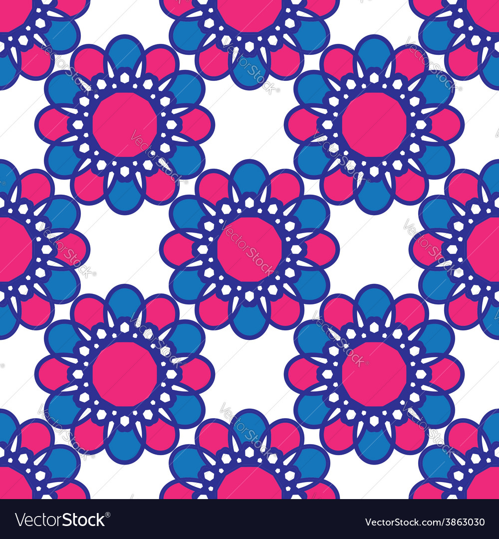 Squares seamless pattern bright colors vector | Price: 1 Credit (USD $1)
