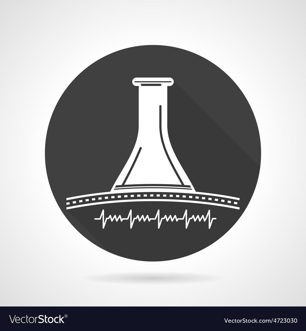 Stethoscope black round icon vector | Price: 1 Credit (USD $1)