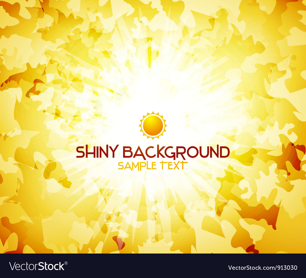 Sunshine yellow abstract background vector | Price: 1 Credit (USD $1)