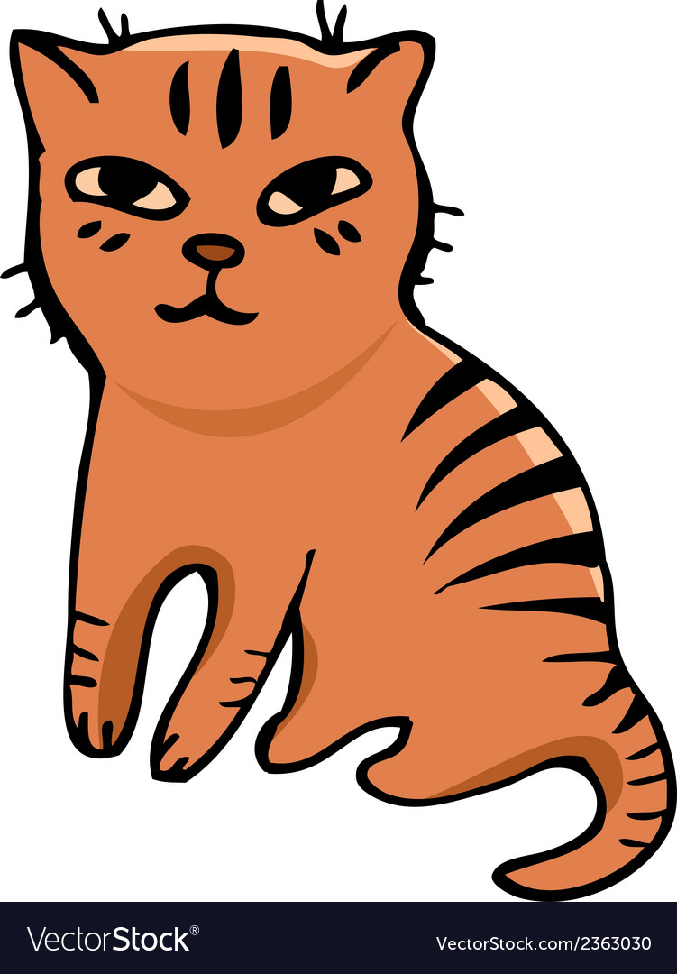 Tabby cat vector | Price: 1 Credit (USD $1)