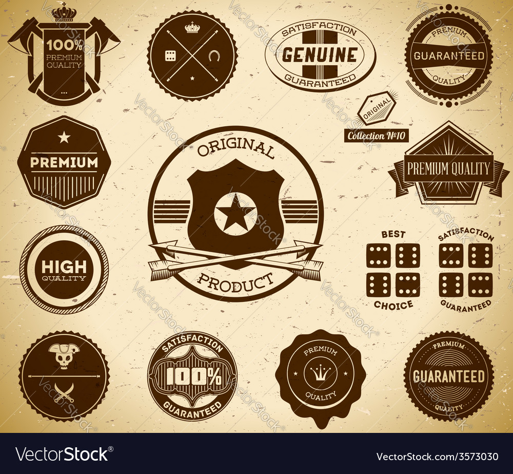 Vintage labels collection 10 vector | Price: 1 Credit (USD $1)